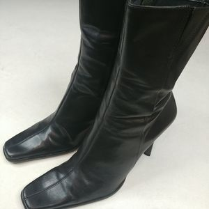 Diba USA Vintage Black Brazilian Leather Boot 10M